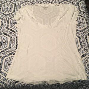 J. Crew white scoop v-neck t-shirt